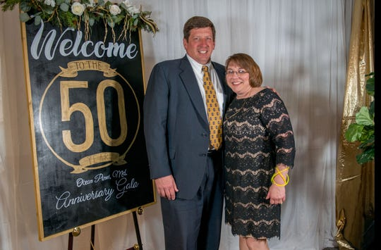 Delegate-elect Wayne Hartman is seen with his wife, Sharon, at the Ocean Pines 50th Anniversary Gala.