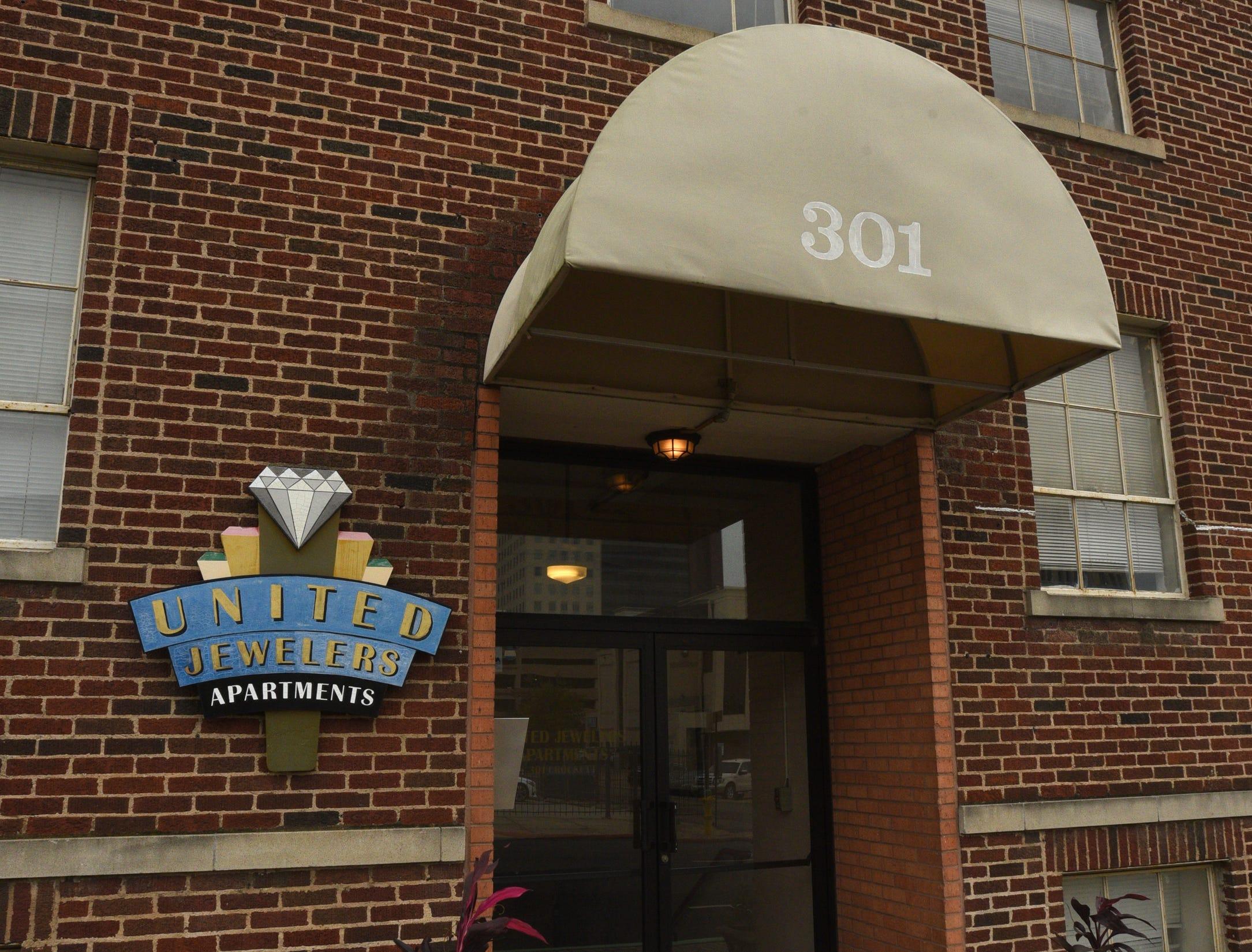 United Jewelers Apartments in Shreveport.