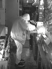 Tea Police search for a suspect who burglarized the Sky Lounge at 4:30 a.m. Nov. 3. Tea police say the suspect is wearing Air Jordans and a Carhatt coat.