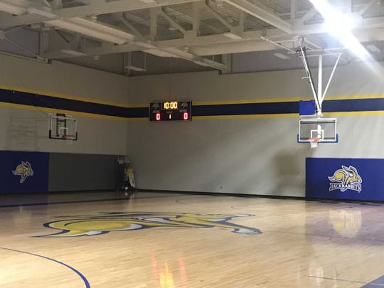 SDSU's new facility has 8 baskets on each full-sized court