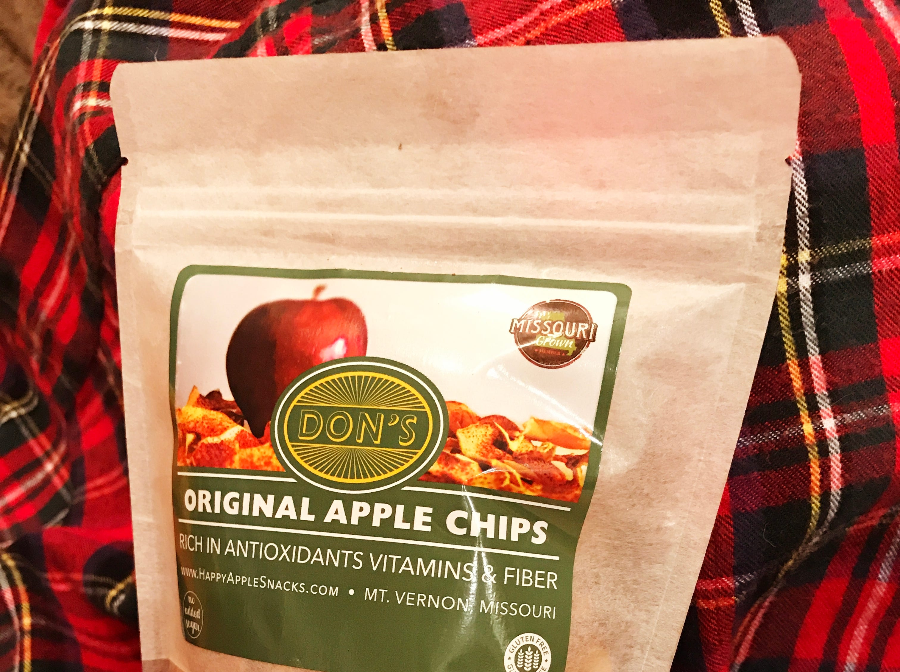 Don's Happy Apple Snacks in Mt. Vernon makes several types of apple and kale chips.