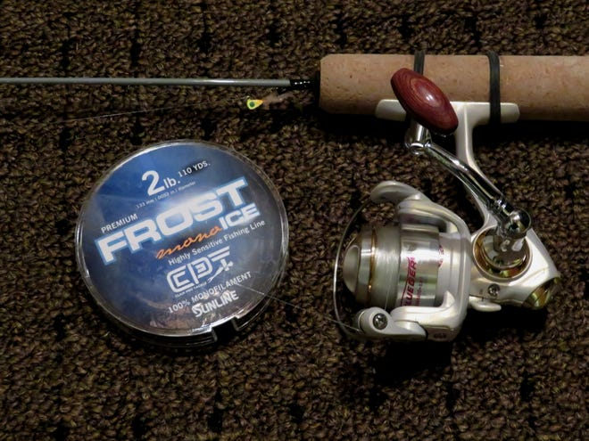 Monitoring fishing line is a critical part of winter angling.