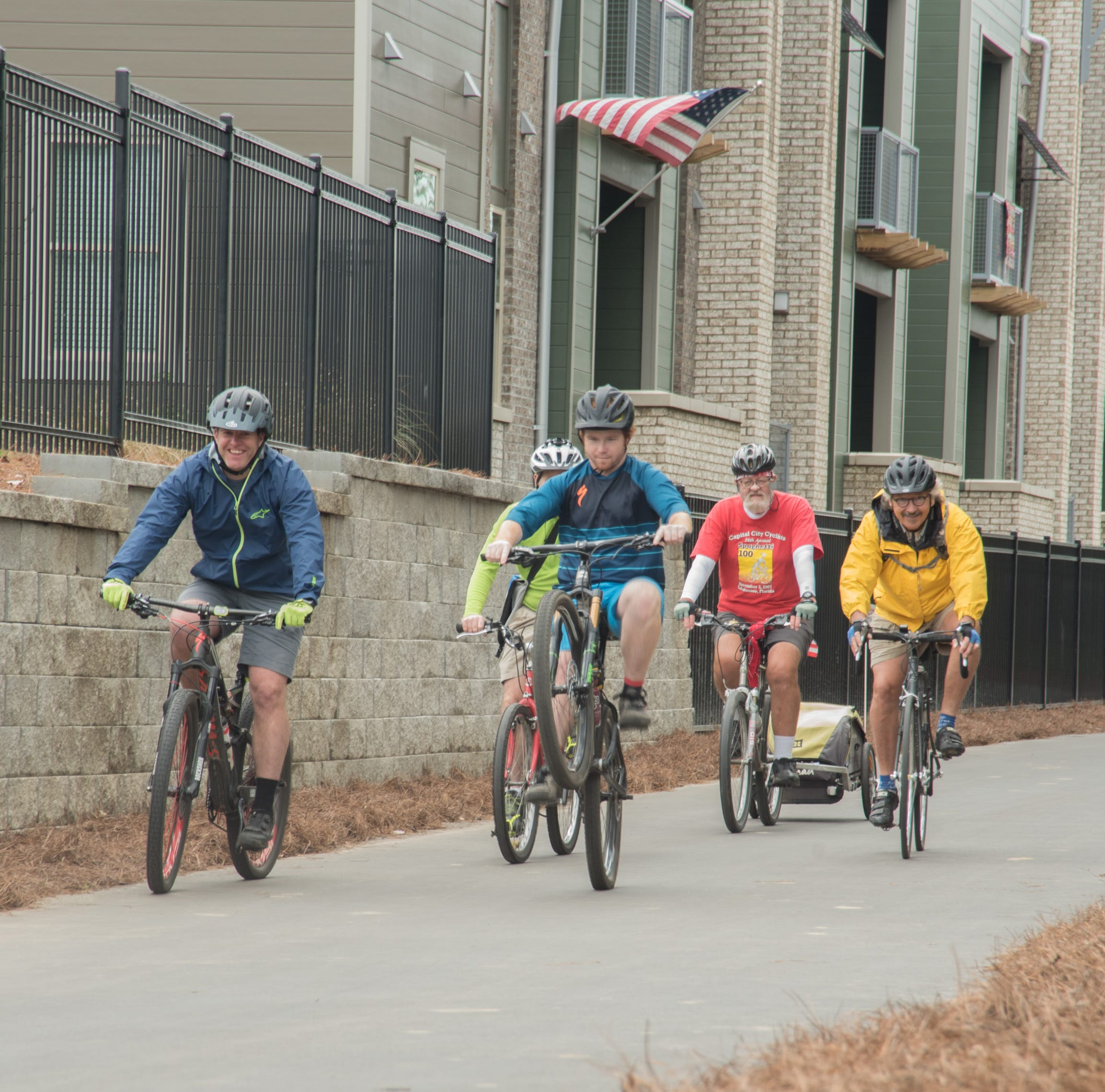 The St. Marks Trail extension opened at Stadium Enclave offering students and residents access to a safe bike and walk lane.