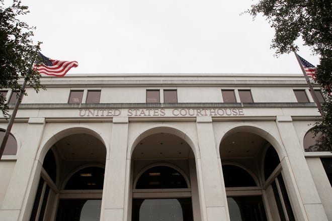 The federal courthouse in Tallahassee is the site of arguments that could determine who can and can't vote in the next election.