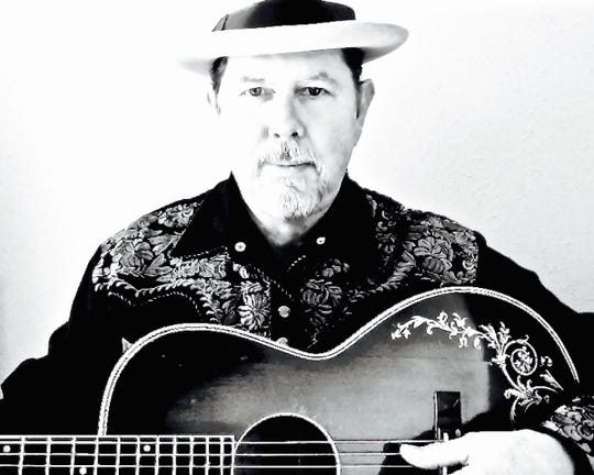 Singer-songwriter, raconteur and guitarist Ken West matches plays at 8 p.m. Friday at Blue Tavern.