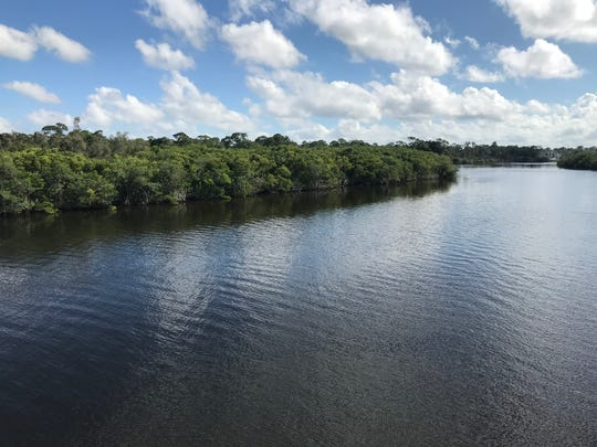 View of St. Lucie River where Port St. Lucie plans to build a southern extension of the Riverwalk Boardwalk south of Port St. Lucie Boulevard.