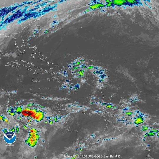 Tropical wave 6 a.m. Nov. 14, 2018