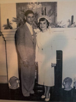 Victor and Wanda Knight on their wedding day.