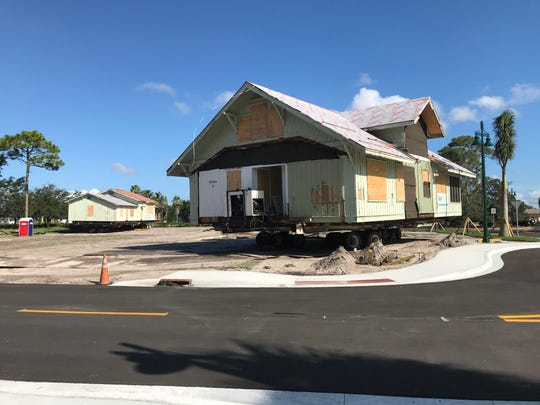 Port St. Lucie is placing the historic Peacock House and Peacock Lodge buildings at the entrance of a park under construction on Westmoreland Boulevard where the southern extension of the Riverwalk Boardwalk is being built.