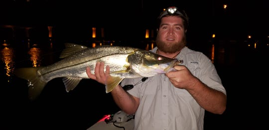 Steven Wood of Port St. Lucie said the snook fishing after dark in the St. Lucie River has been very good.