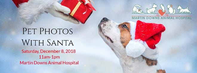 Get your pet's photo taken with Santa!