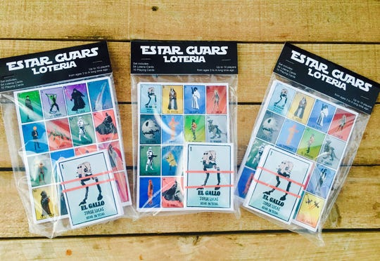 What a rare combination - Loteria and Star Wars characters. Great stocking stuffer from Chuco Relic.