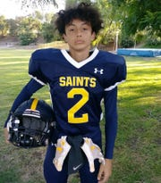 Grieving from the loss of friend Blake Dingman in the mass shooting, Hillcrest Christian football star Yaiden Ochoa and his family had to be evacuated twice from their Thousand Oaks home because of the Woolsey Fire.