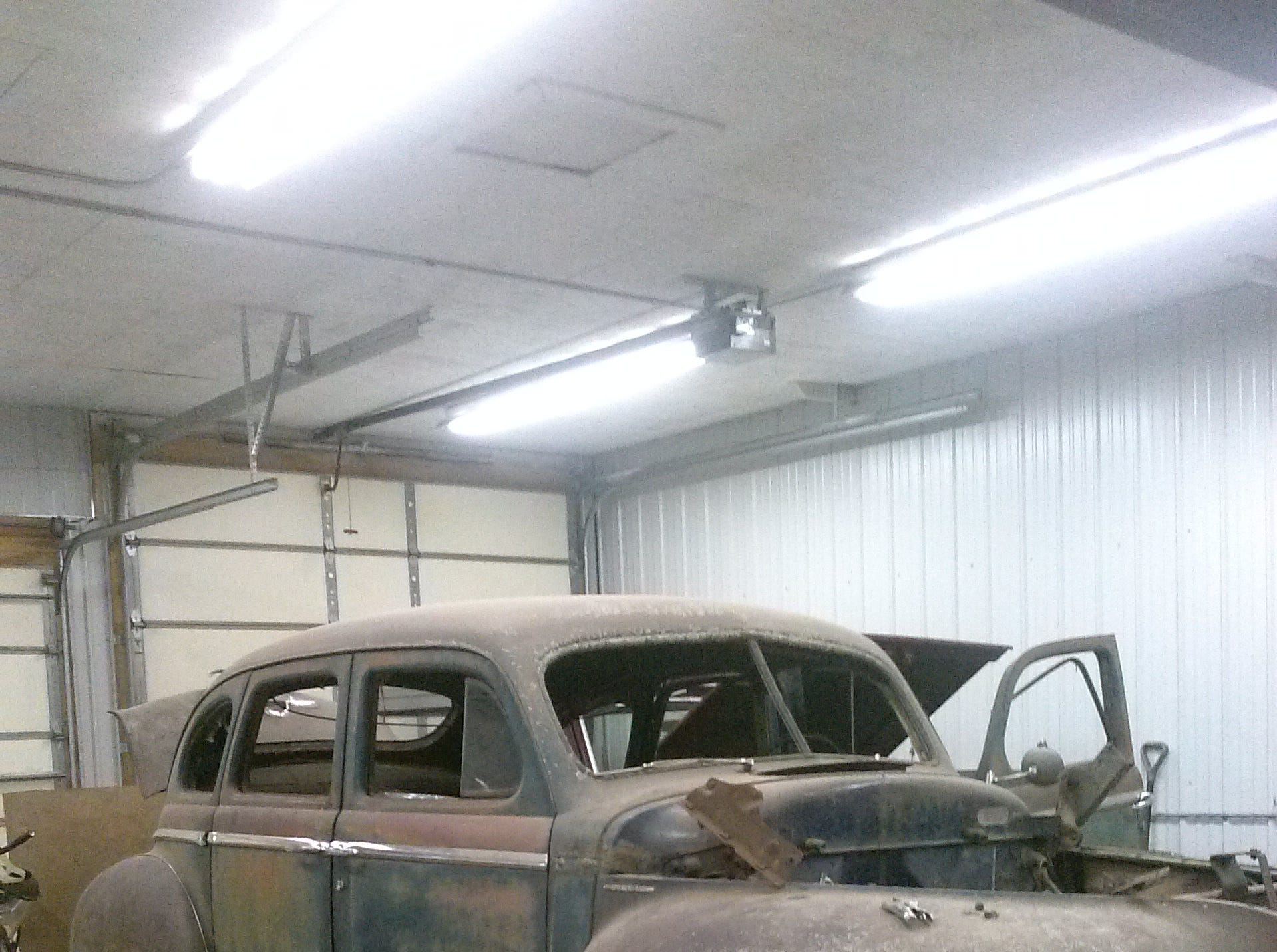 The '48 Plymouth needed a lot of work, but Lindwall is a metal fabricator and has restored vehicles in the past. He found refuge by working the old sedan.