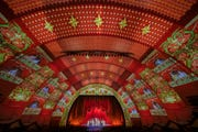 "New to the Radio City ""Christmas Spectacular"" new this year are enhanced digital projections from Obscura Digital at Radio City Music Hall."