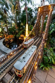"""Detail from the New York Botanical Garden """"Holiday Train Show."""""""