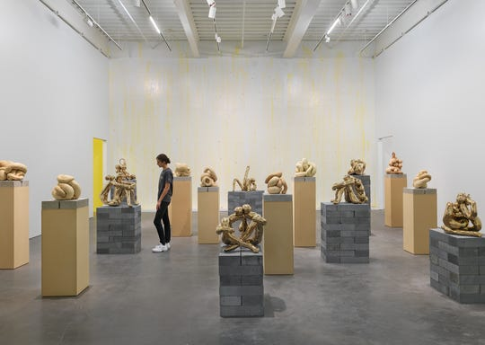 """Sarah Lucas: Au Naturel,"" 2018. Exhibition view: New Museum, New York. Photo: Maris Hutchinson / EPW Studio"