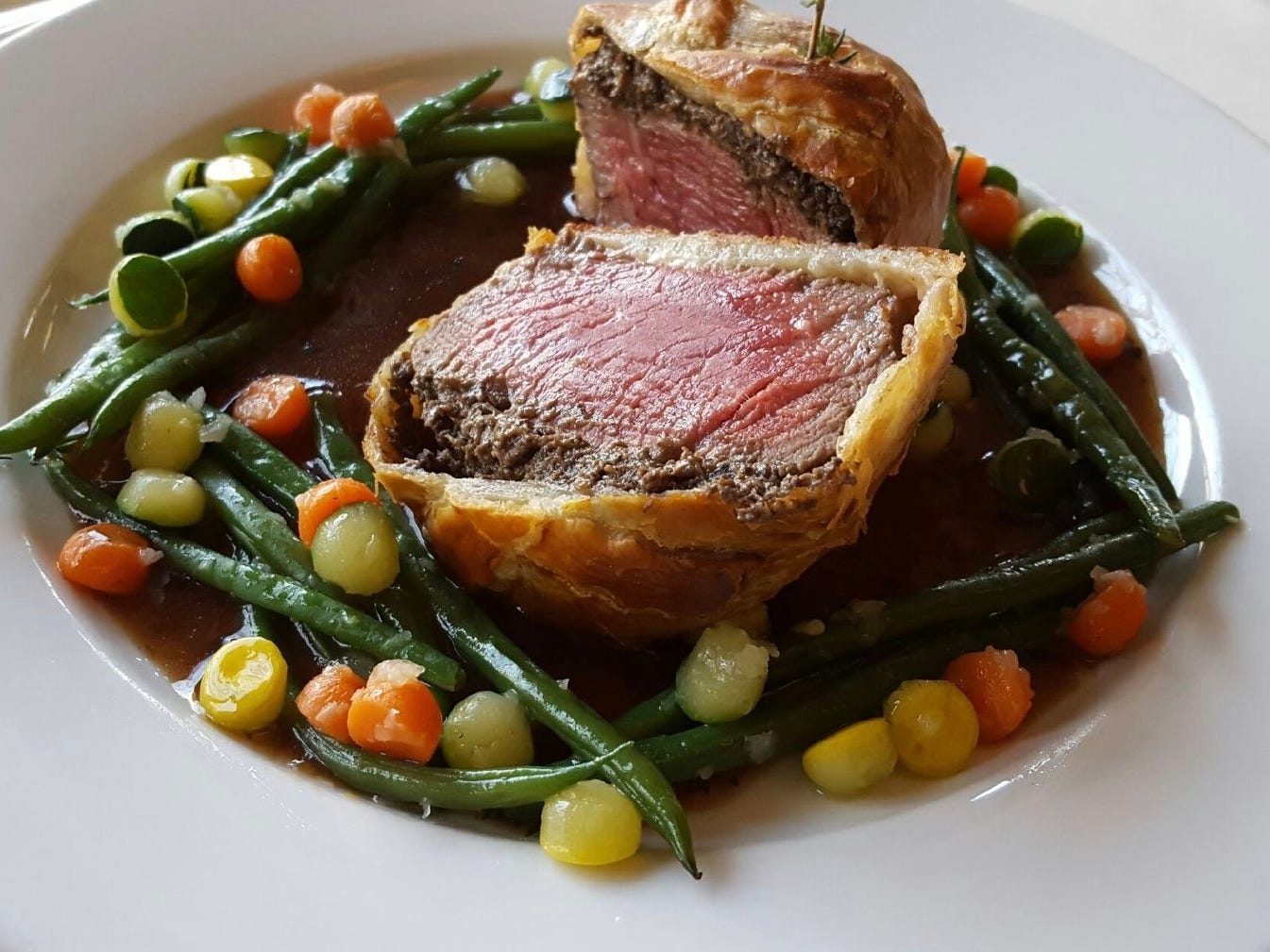 Beef Wellington from Restaurant X and Bully Boy in Congers.