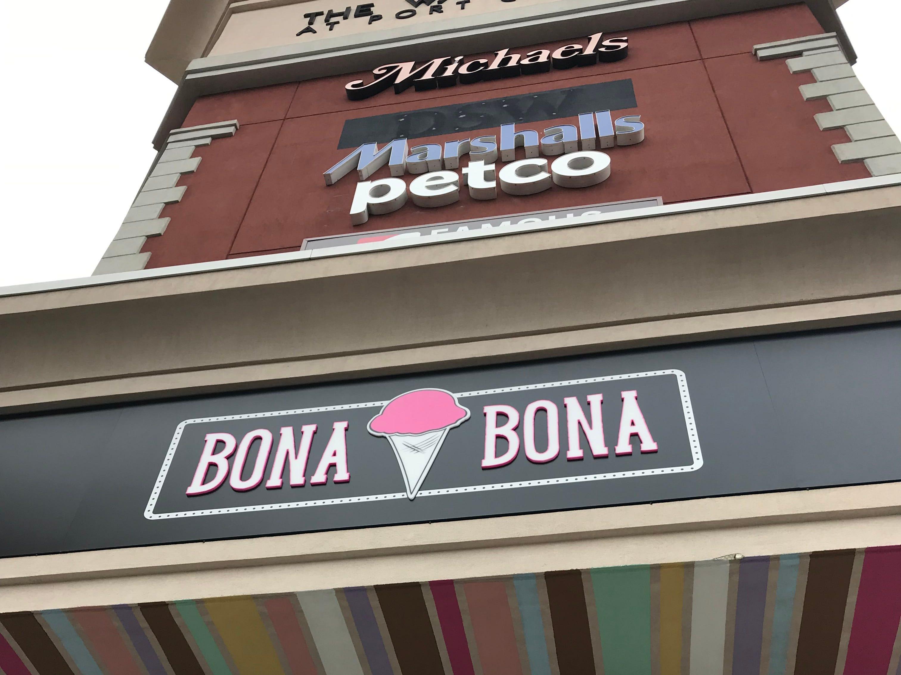 The Bona Bona signage in Port Chester.