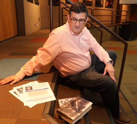 As a part of The National Day of Listening Brian Jennings, New City Library's Head of Adult Services will moderate a discussion with local residents' about their memories of the day John F. Kennedy was assassinated. Jennings is photographed at New City library on Nov. 14, 2018. Jennings