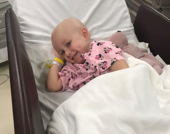 Blakleigh Grace Lipe, 4, was the first Nemours patient to undergo a type of radiation treatment, which drastically shrunk her tumor on her liver.