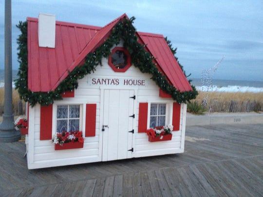 Santa's House at its spot on the Rehoboth Beach Boardwalk.