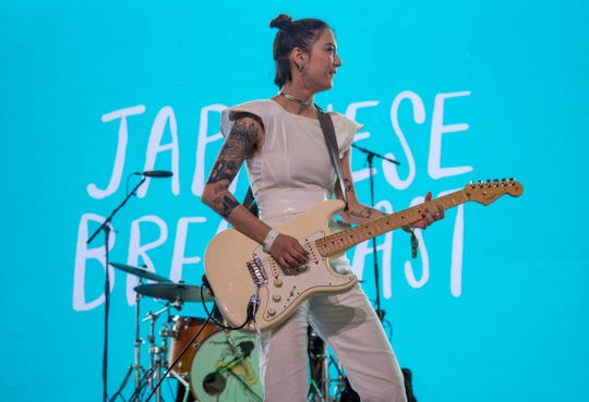 Japanese Breakfast performs at the Coachella Music and Arts Festival in Indio, California, April 15, 2018. The act headlines Dogfish Head's Rehoboth Beach brewpub Friday night.