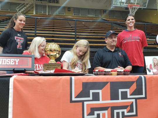 Rider senior Lindsey Dodson signs college letter of intent to play volleyball at Texas Tech.