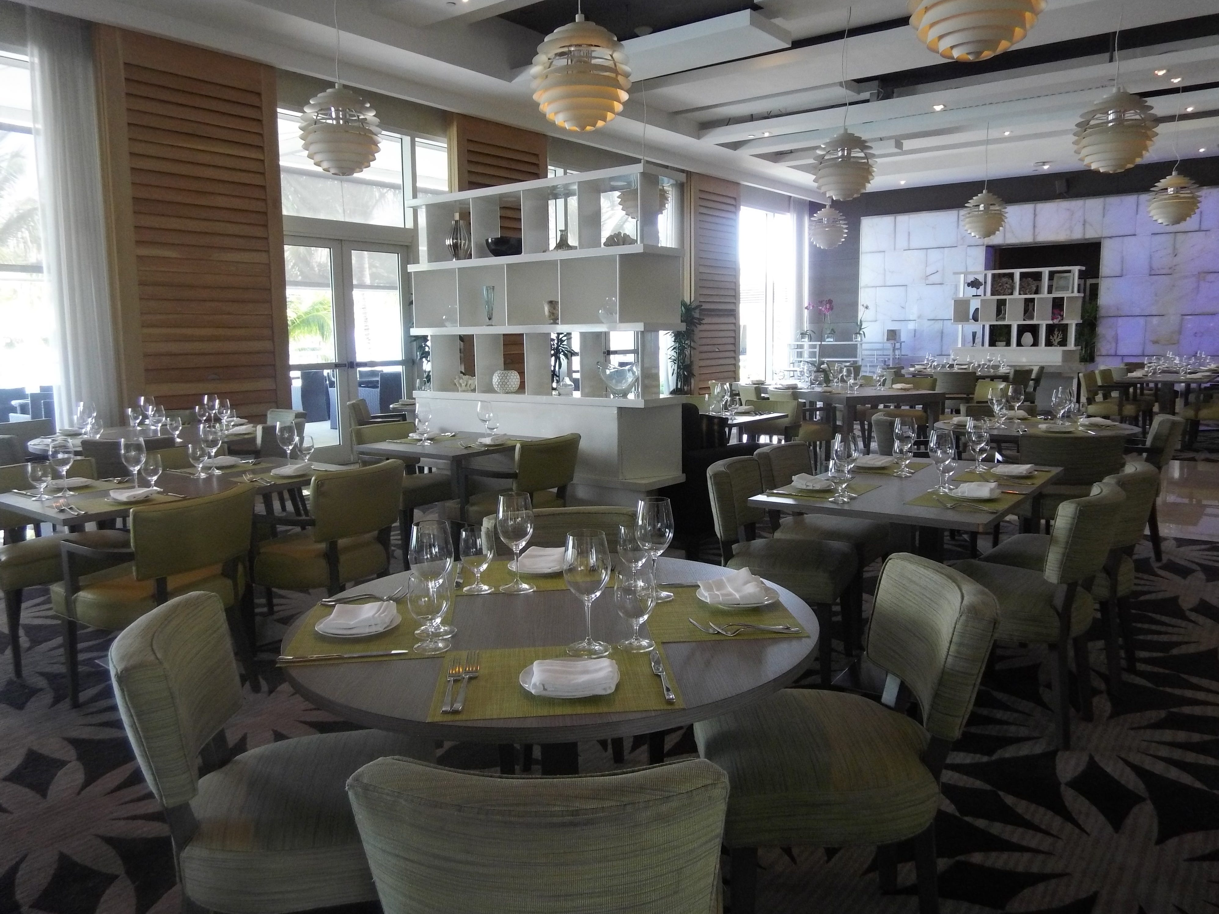 SeaGrille at Boca Beach Club serves breakfast and dinner.