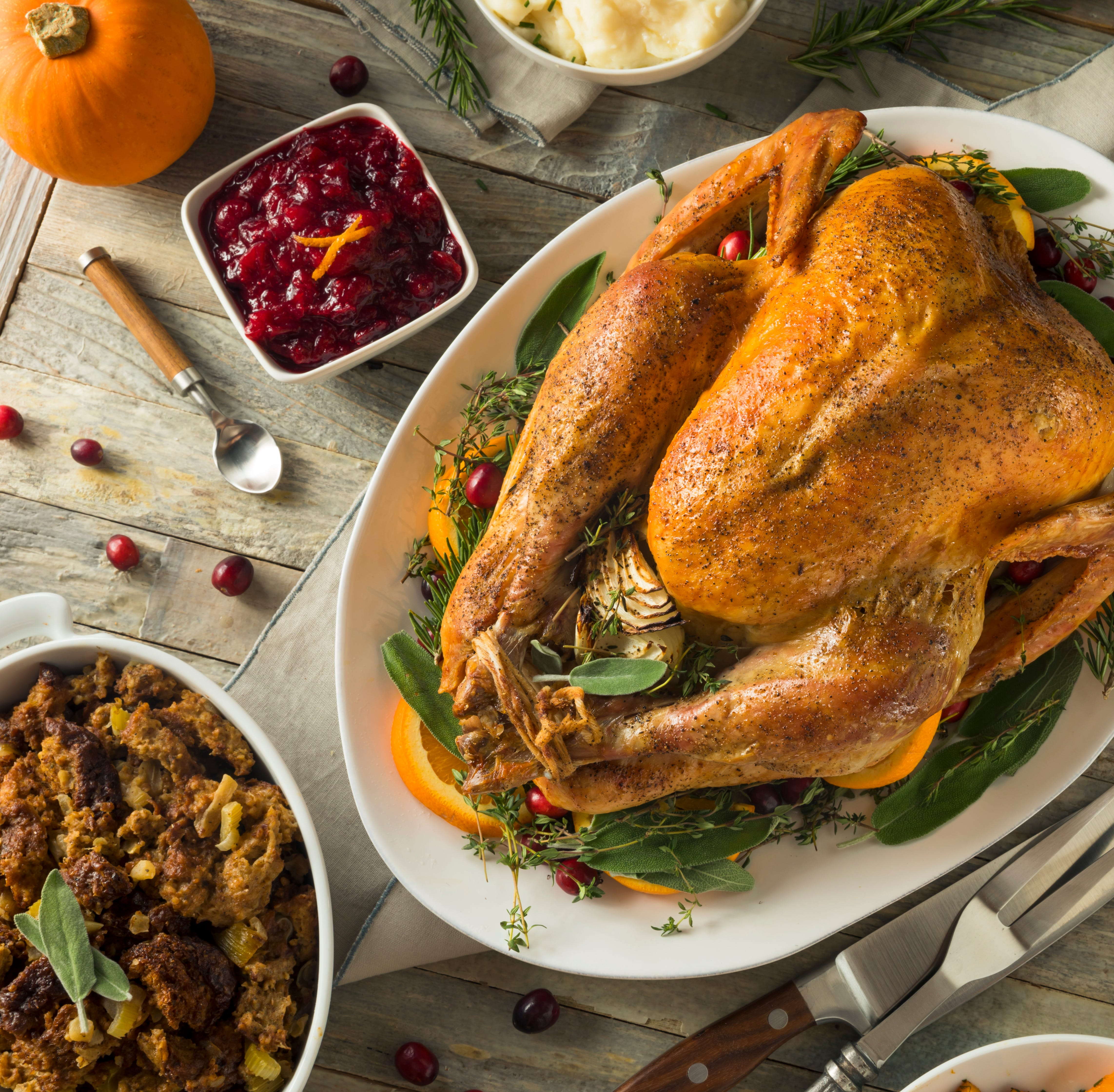 Indulge – the average Thanksgiving dinner costs a bit less than last year