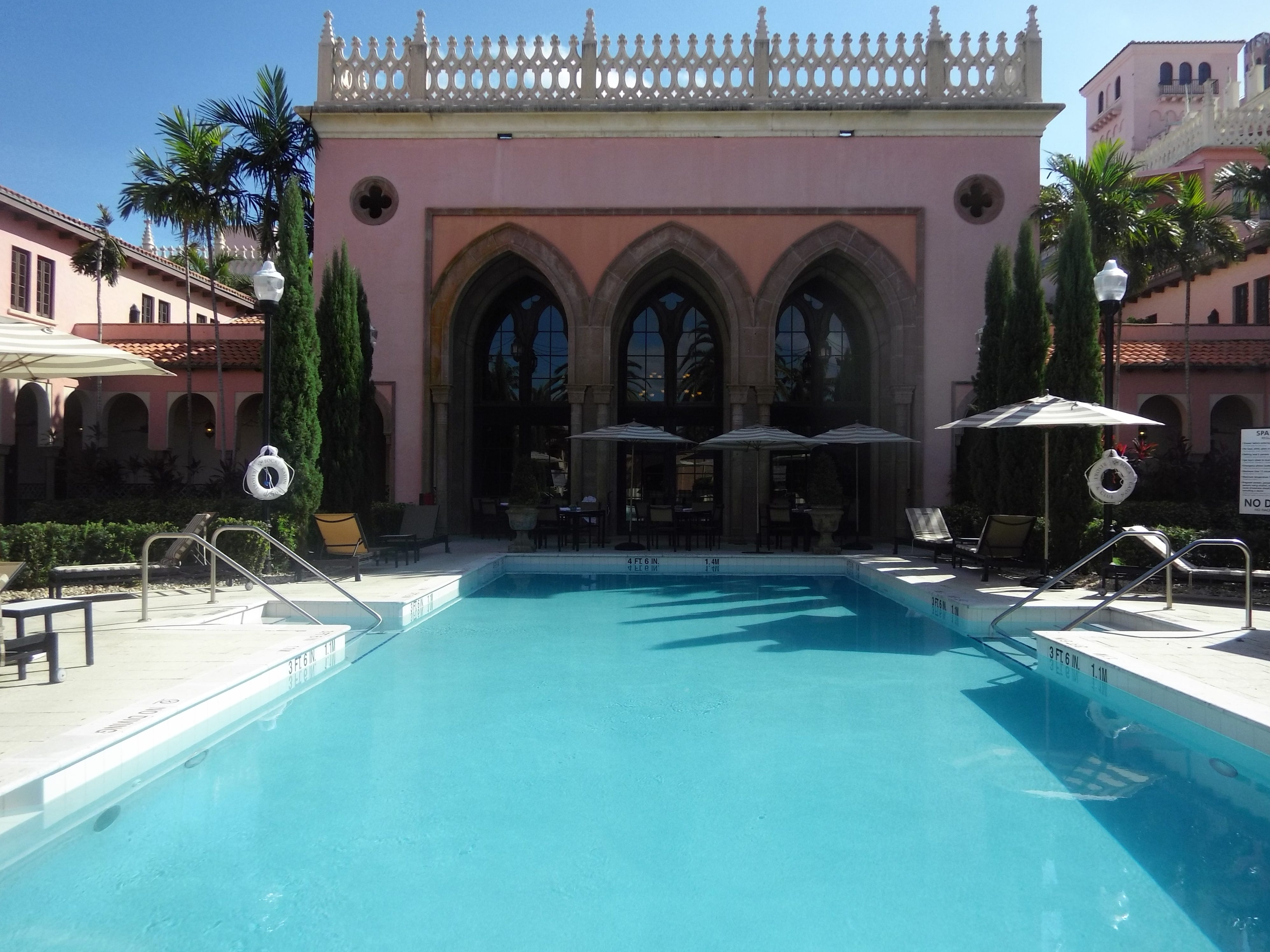 The pool at the Waldorf Astoria Spa is exclusive for spa guests.