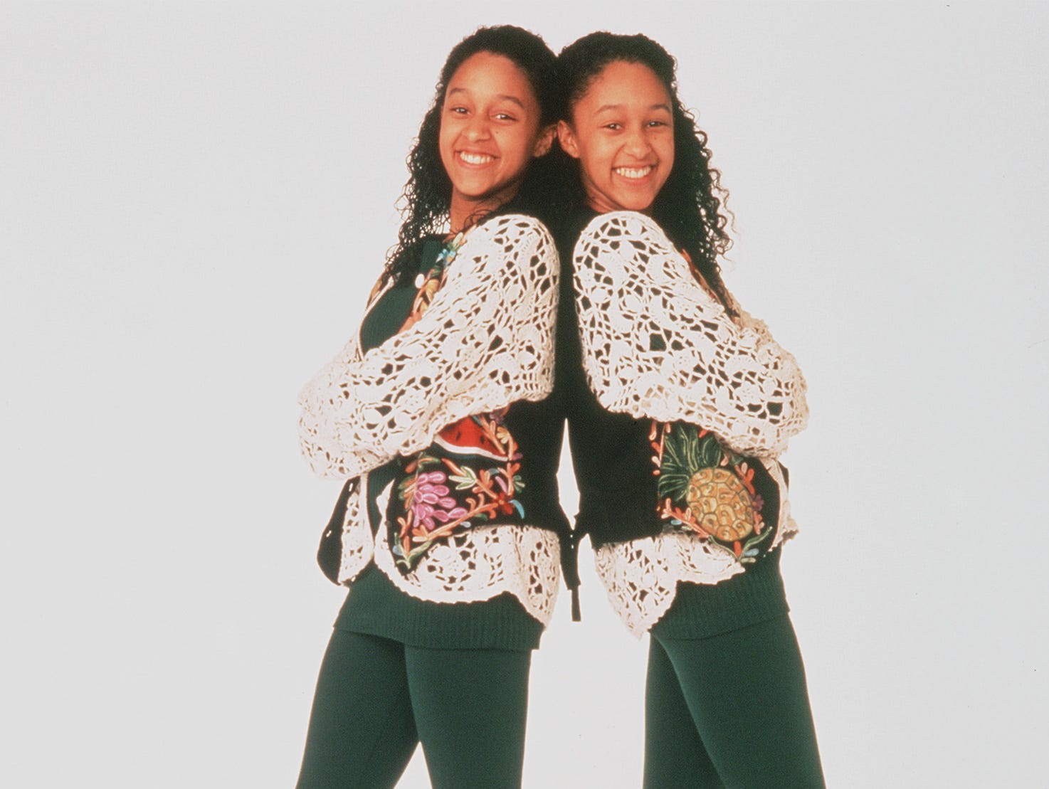 "Tamera and Tia Mowry of the television series "" Sister, Sister."" (Gannett News Service/Paramount Pictures)"