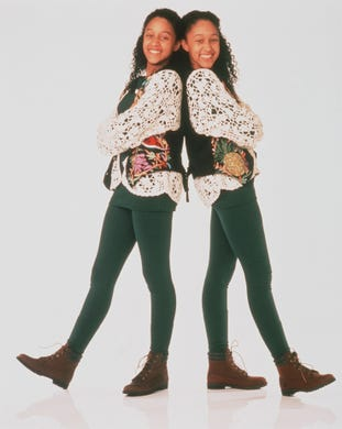 """From 1994 to 1999, real-life twins Tamera (left) and Tia Mowry starred in """"Sister, Sister"""" as twins separated and adopted at birth."""