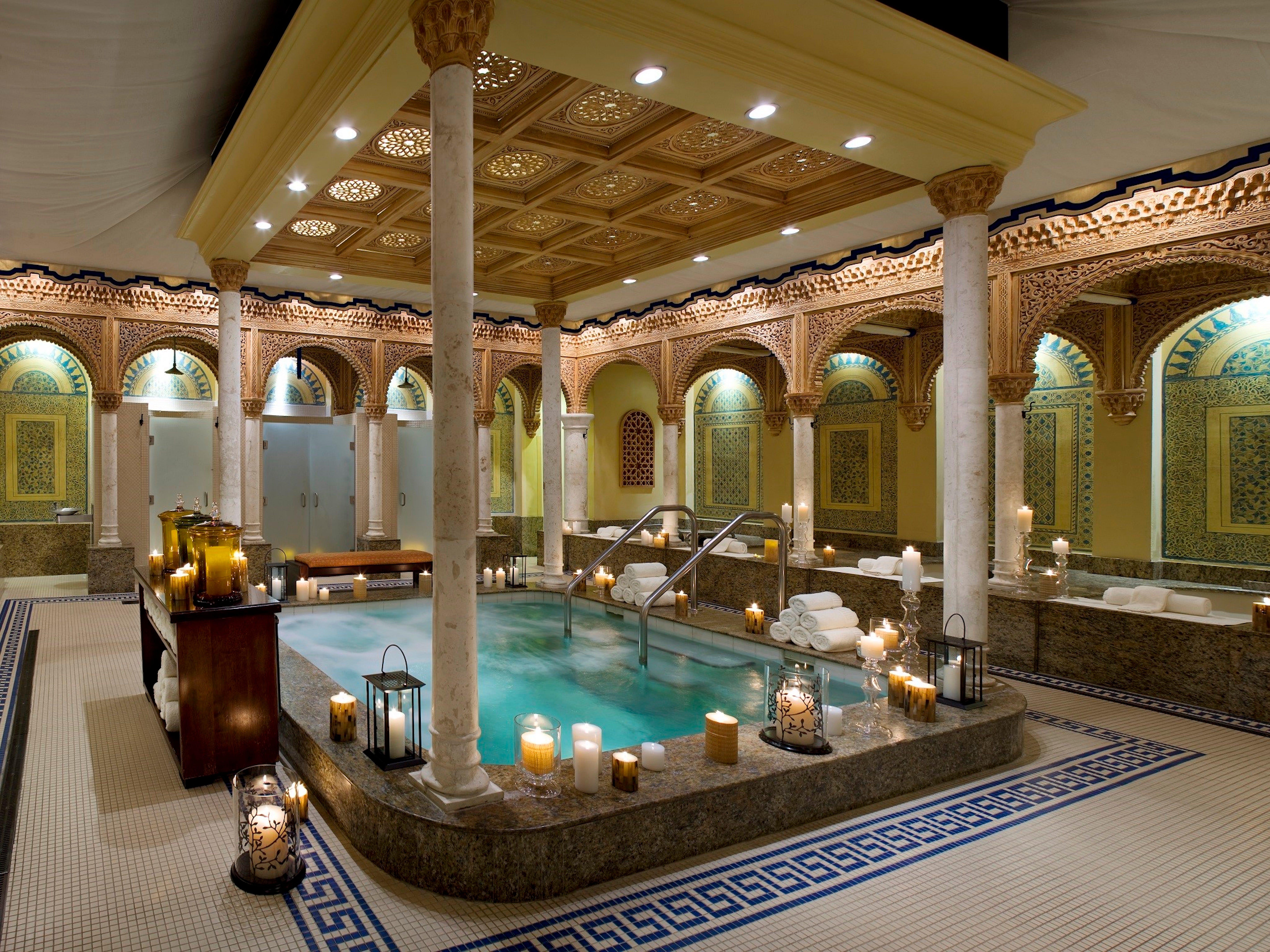 Enjoy a Ritual Bath in this stunning space at Waldorf Astoria Spa.