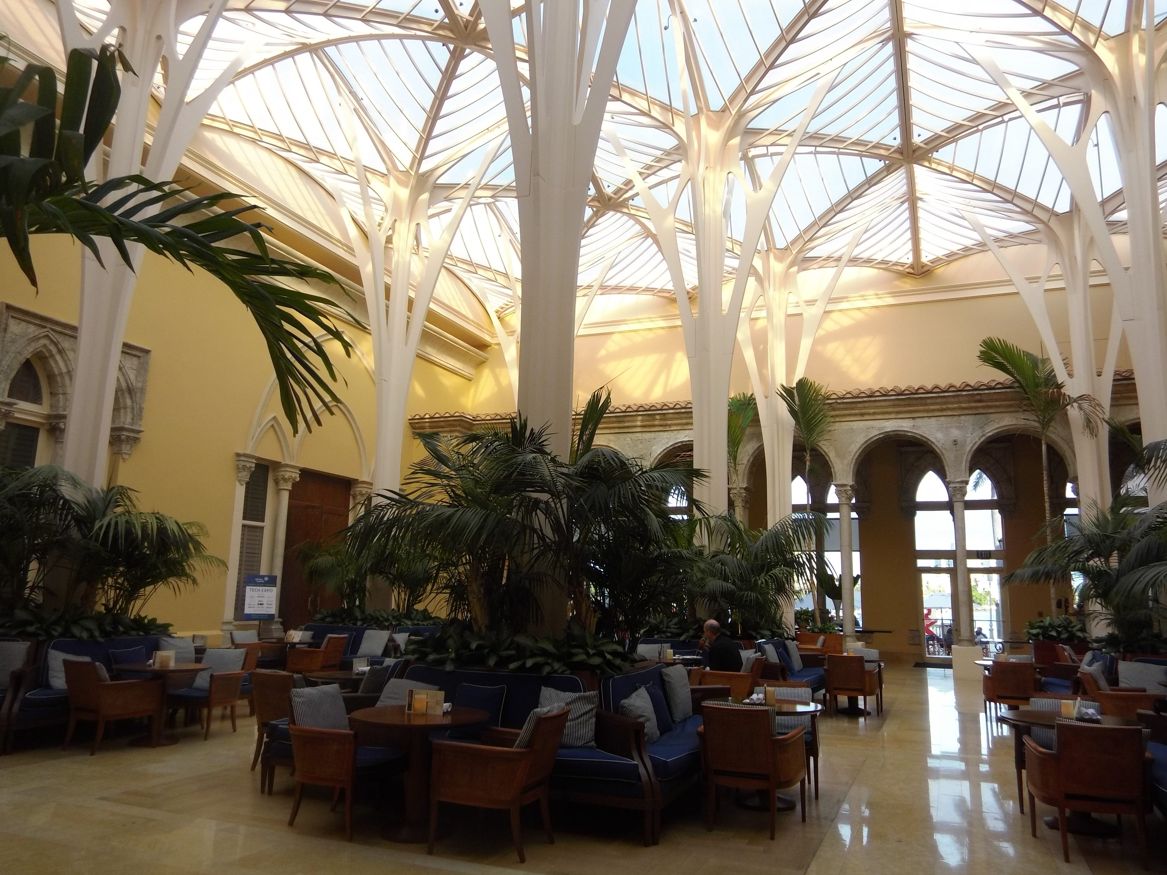 Breakfast is served in Palm Court.