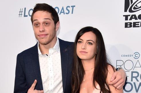 Pete Davidson with ex-girlfriend Cazzie David in 2016.