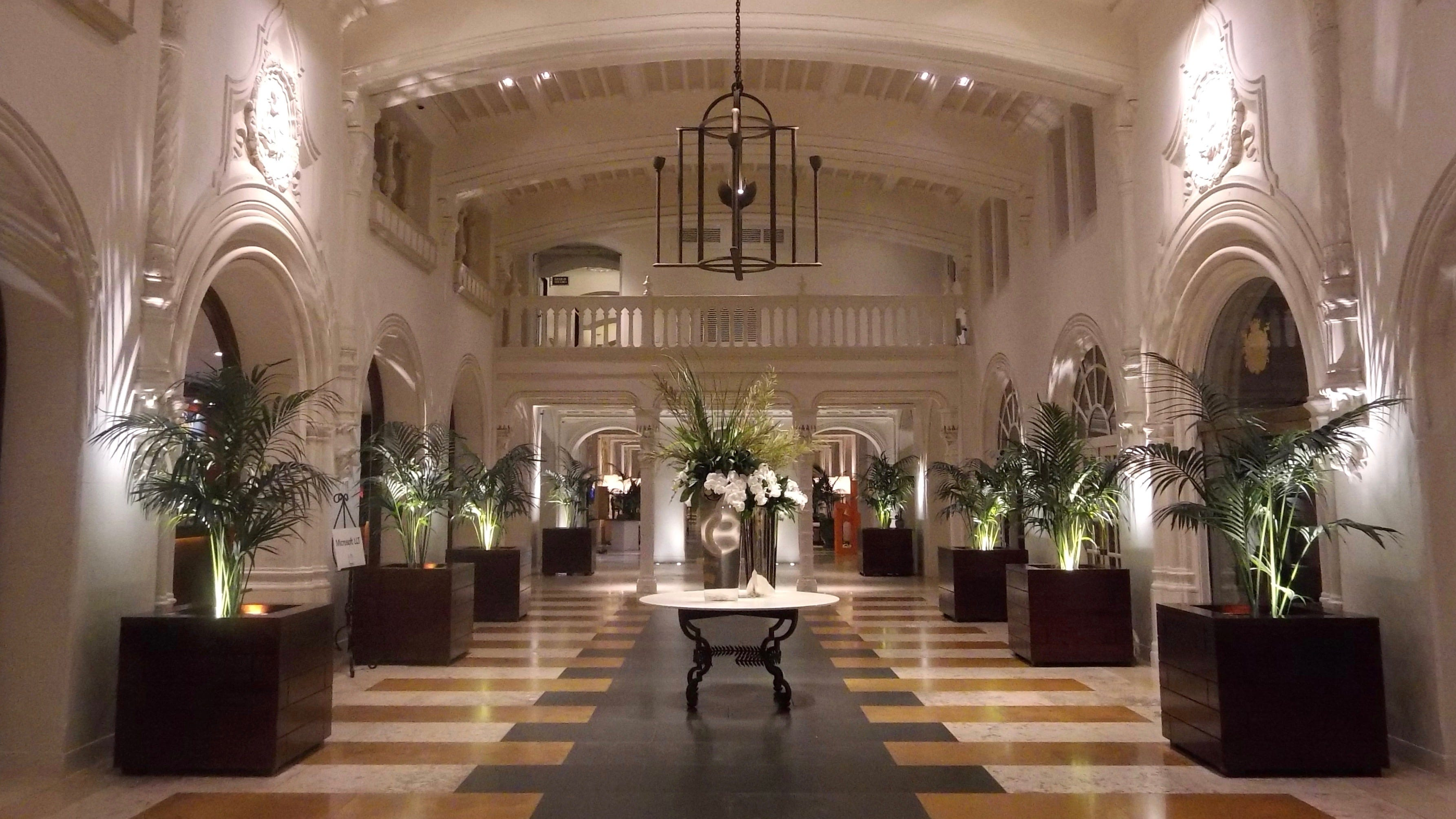The elegant lobby of Boca Raton Resort & Club.