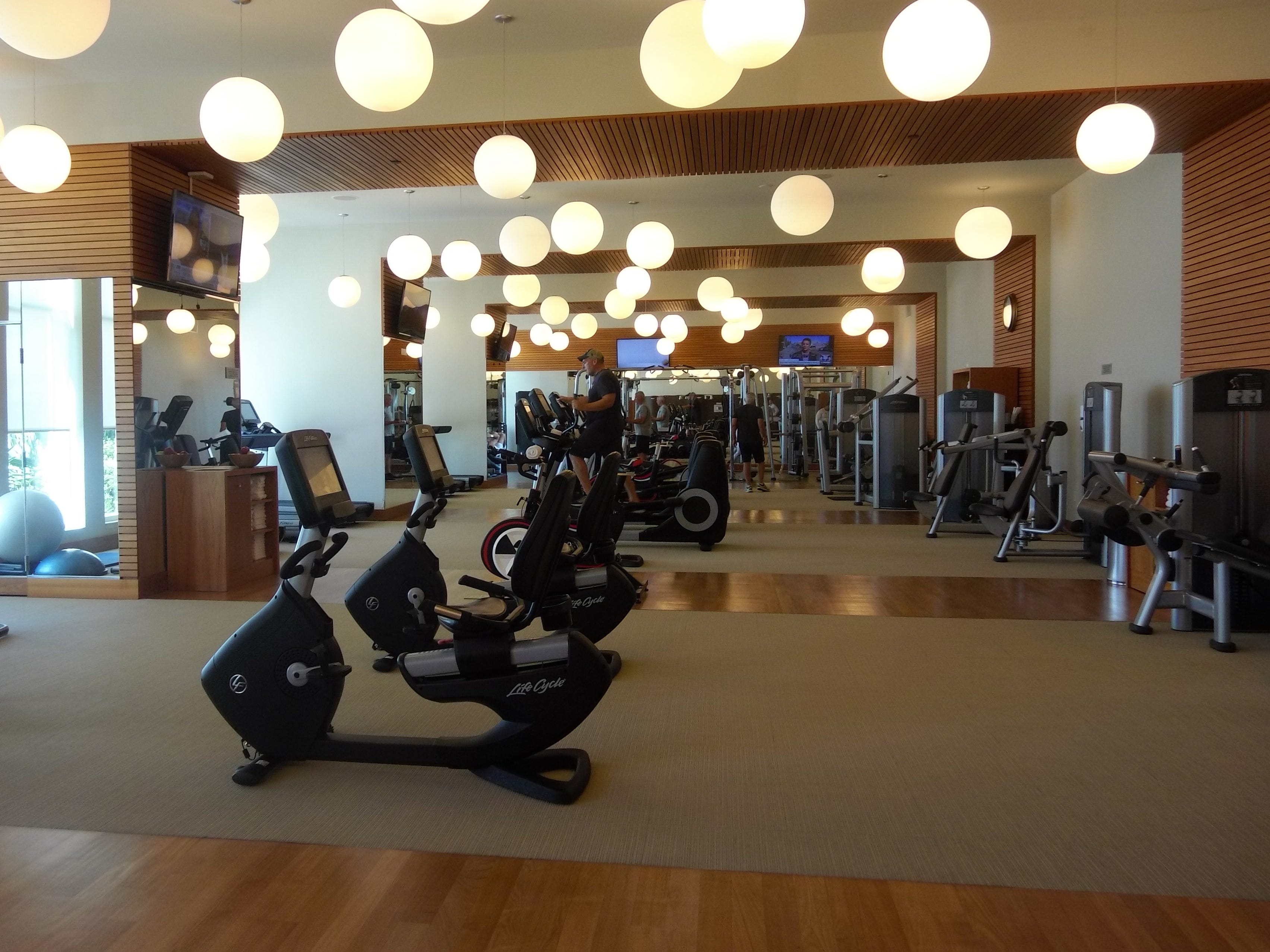 The state-of-the-art fitness center at Boca Beach Club.