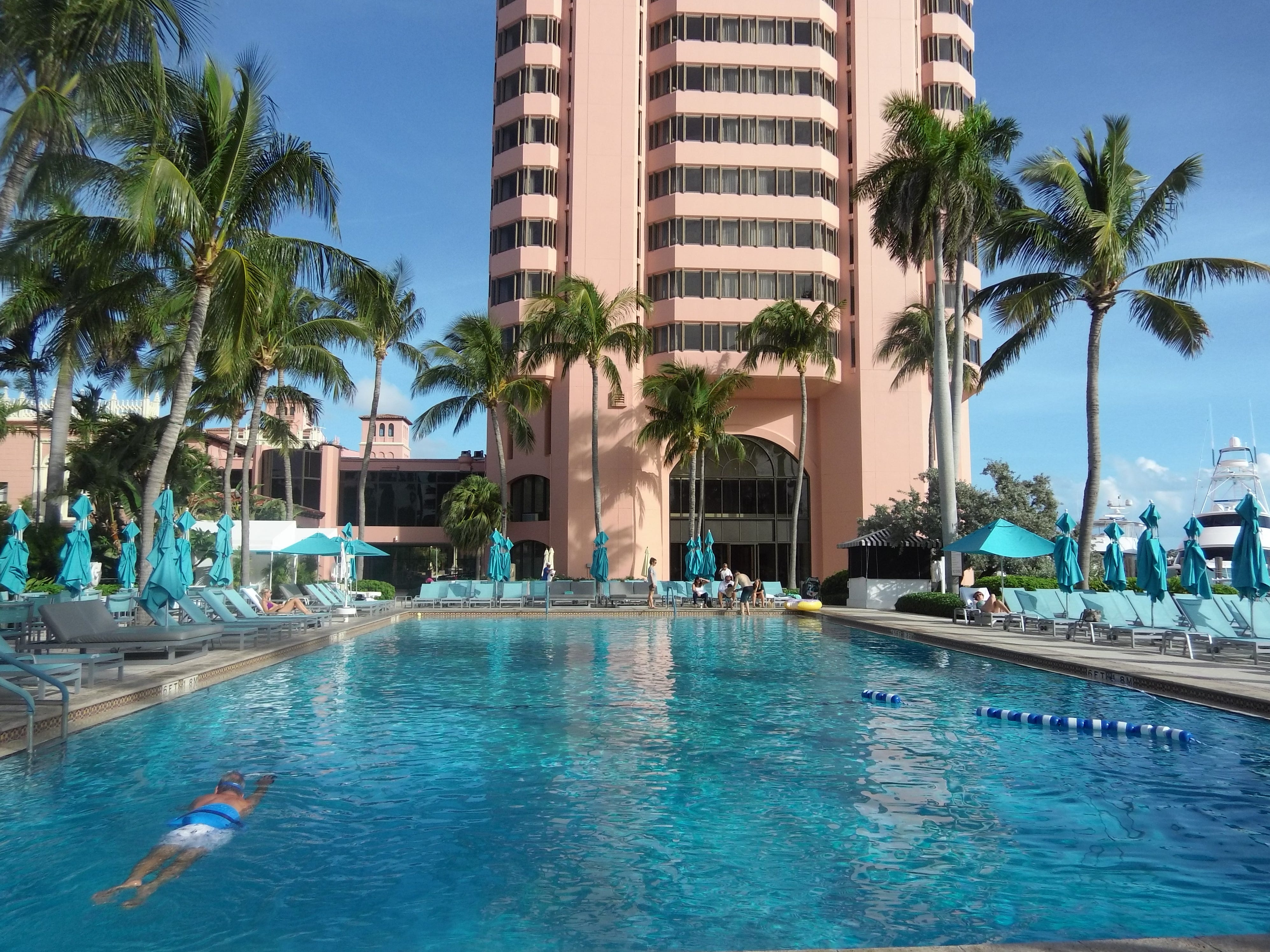 The pool at The Tower is one of seven pools found throughout Boca Raton Resort & Club.