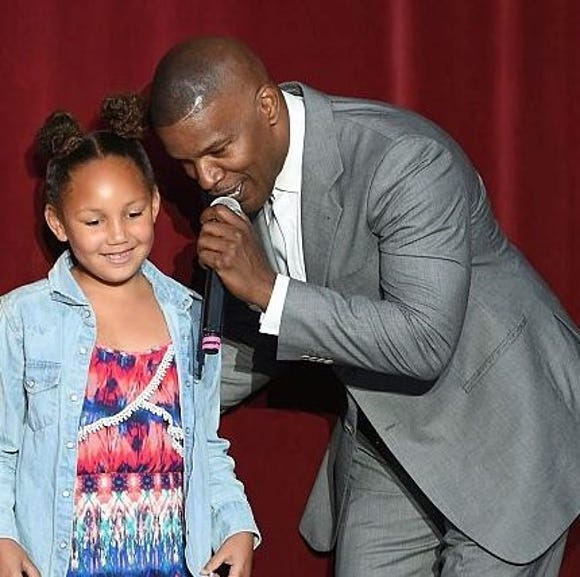 Jamie Foxx is proud that his youngest daughter, Annalise, plays football with the boys.