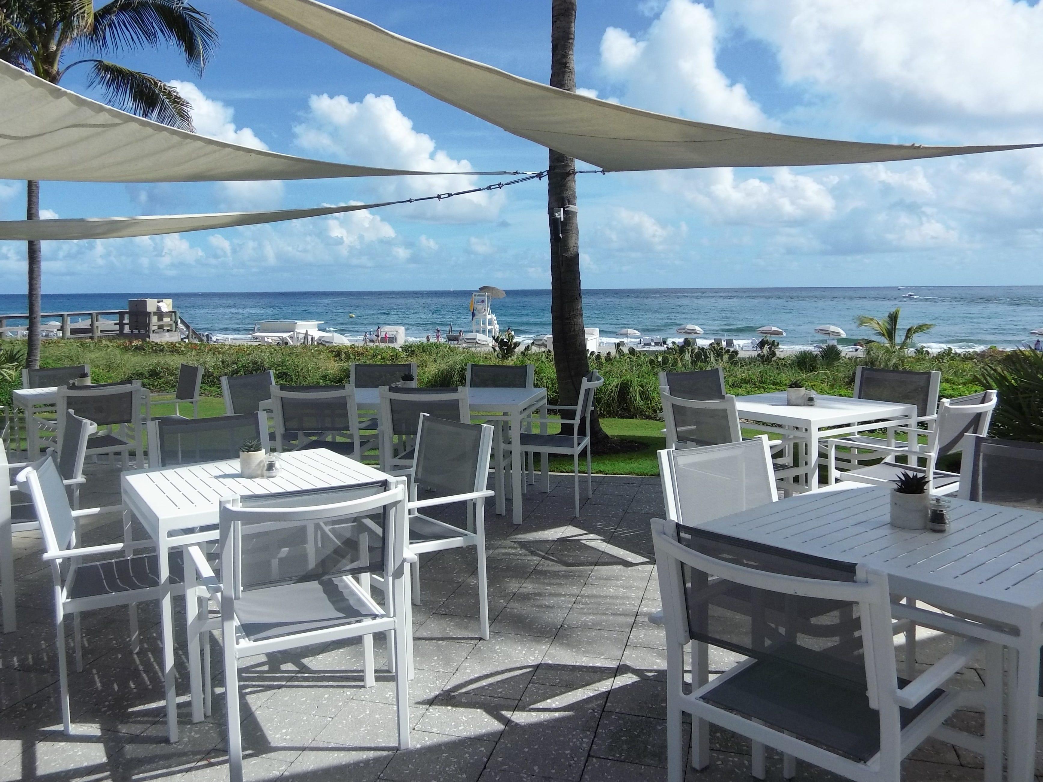 Views of the Atlantic Ocean from Beaches Restaurant and Bar at Boca Beach Club.