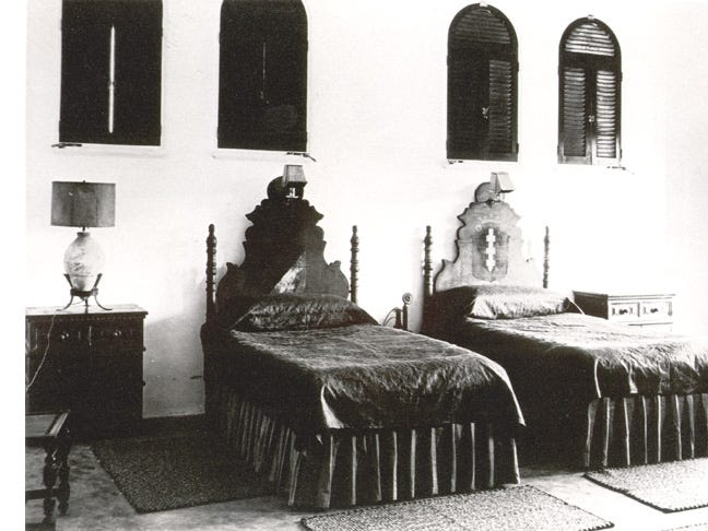 A bedroom in the Cloister Inn.