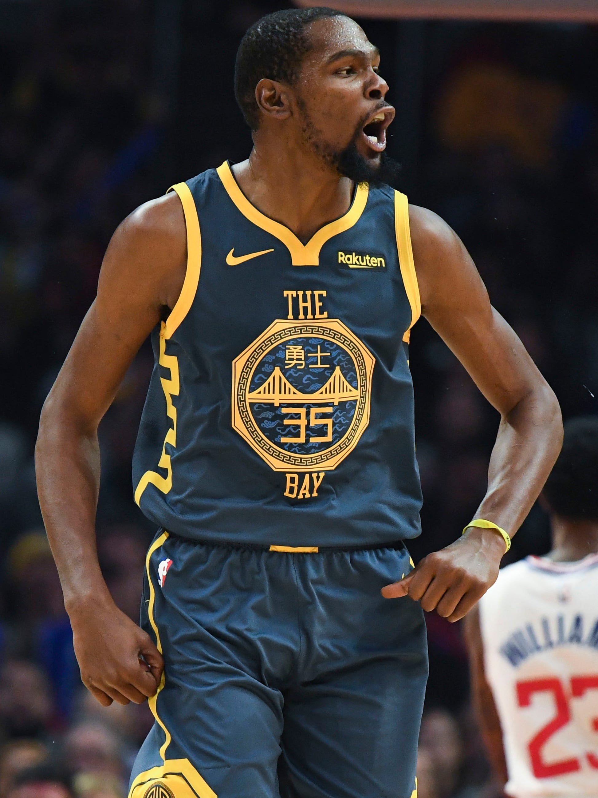 Warriors forward Kevin Durant will become a free agent next season.