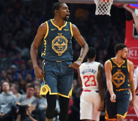 ab441e4fe21c Usp Nba Golden State Warriors At Los Angeles Clip S Bkn Lac Gsw Usa Ca.  Warriors forward Kevin Durant ...