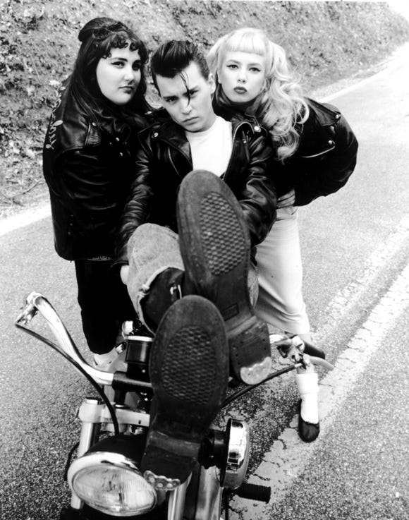 """Depp's bad boy with the heart of gold was the titular star of John Waters' 1990 film, """"Cry-Baby."""""""