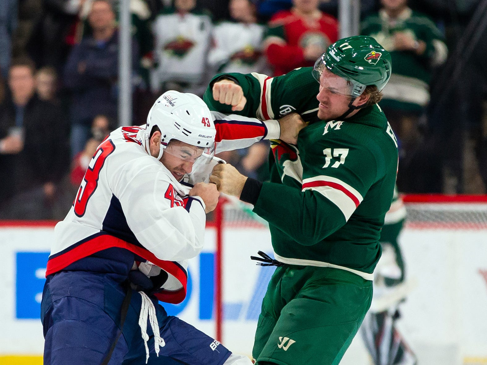 Nov. 13: Capitals' Tom Wilson vs. Wild's Marcus Foligno.