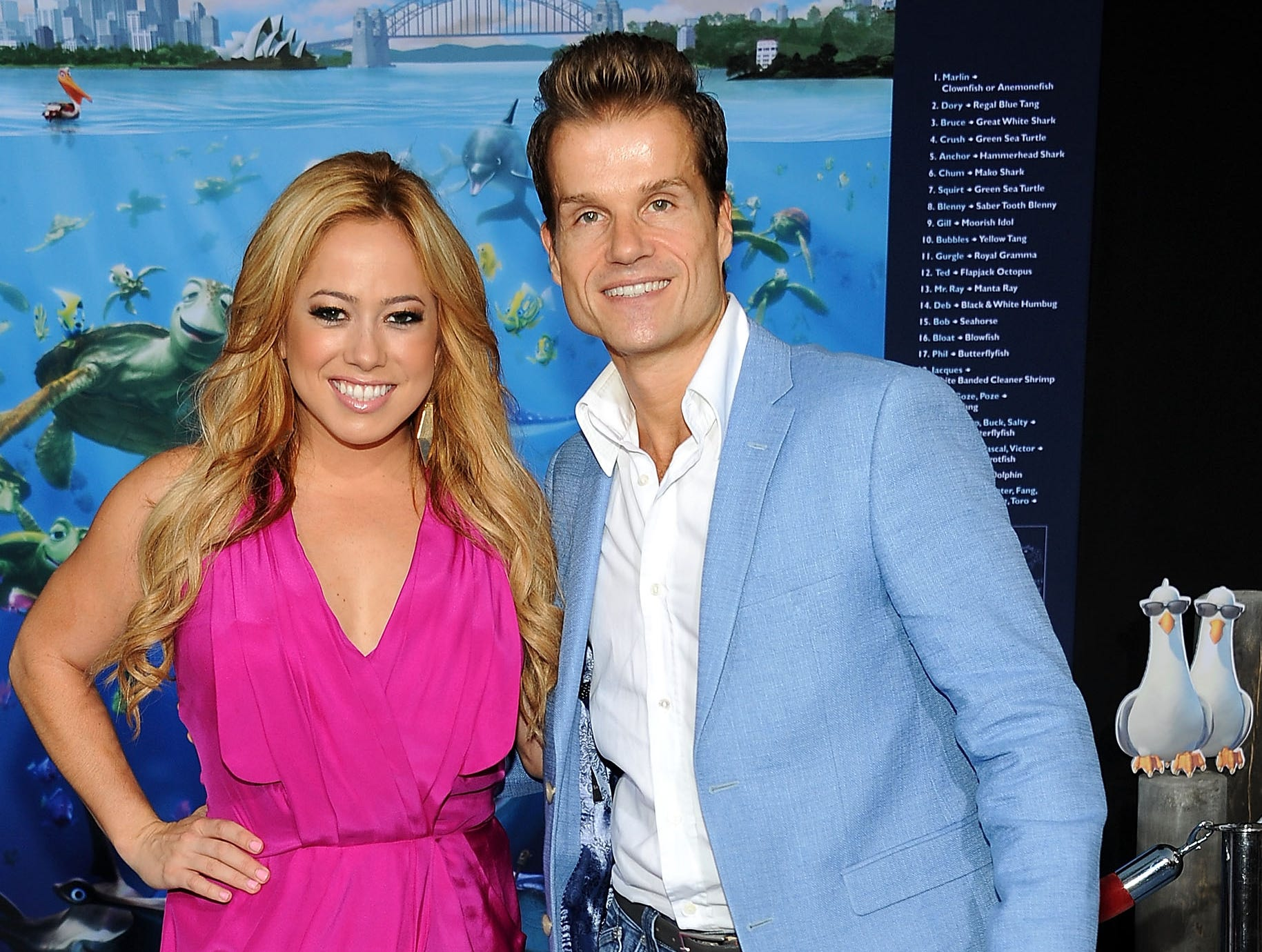 "HOLLYWOOD, CA - SEPTEMBER 10: Sabrina Bryan and Louis Van Amstel attend the premiere of Disney Pixar's ""Finding Nemo"" Disney Digital 3D at the El Capitan Theatre on September 10, 2012 in Hollywood, California. (Photo by Valerie Macon/Getty Images) ORG XMIT: 151731945 ORIG FILE ID: 151750155"