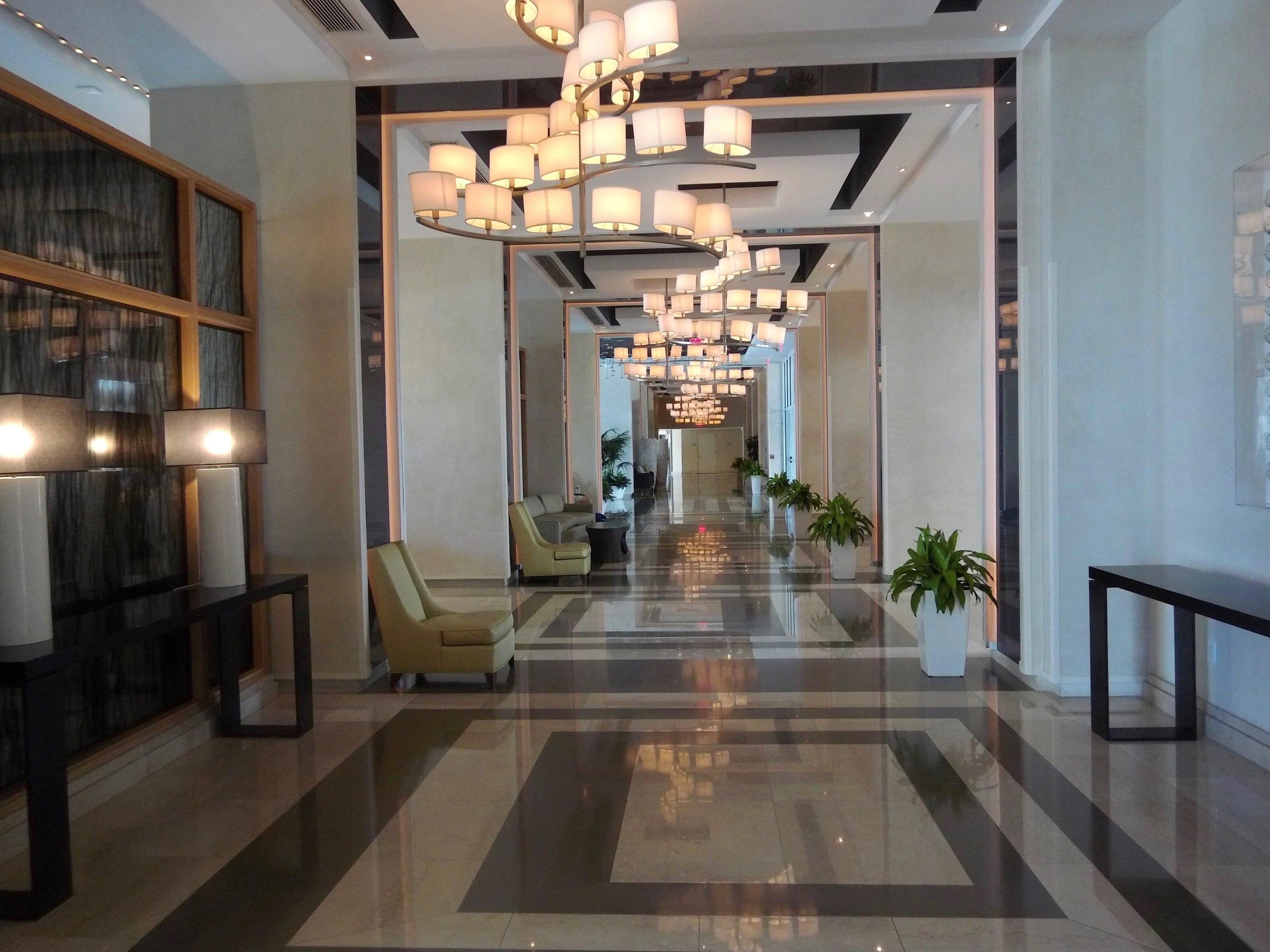 The lobby of Boca Beach Club.