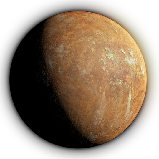 An artist's conception of the planet that's in orbit around Barnard's Star.