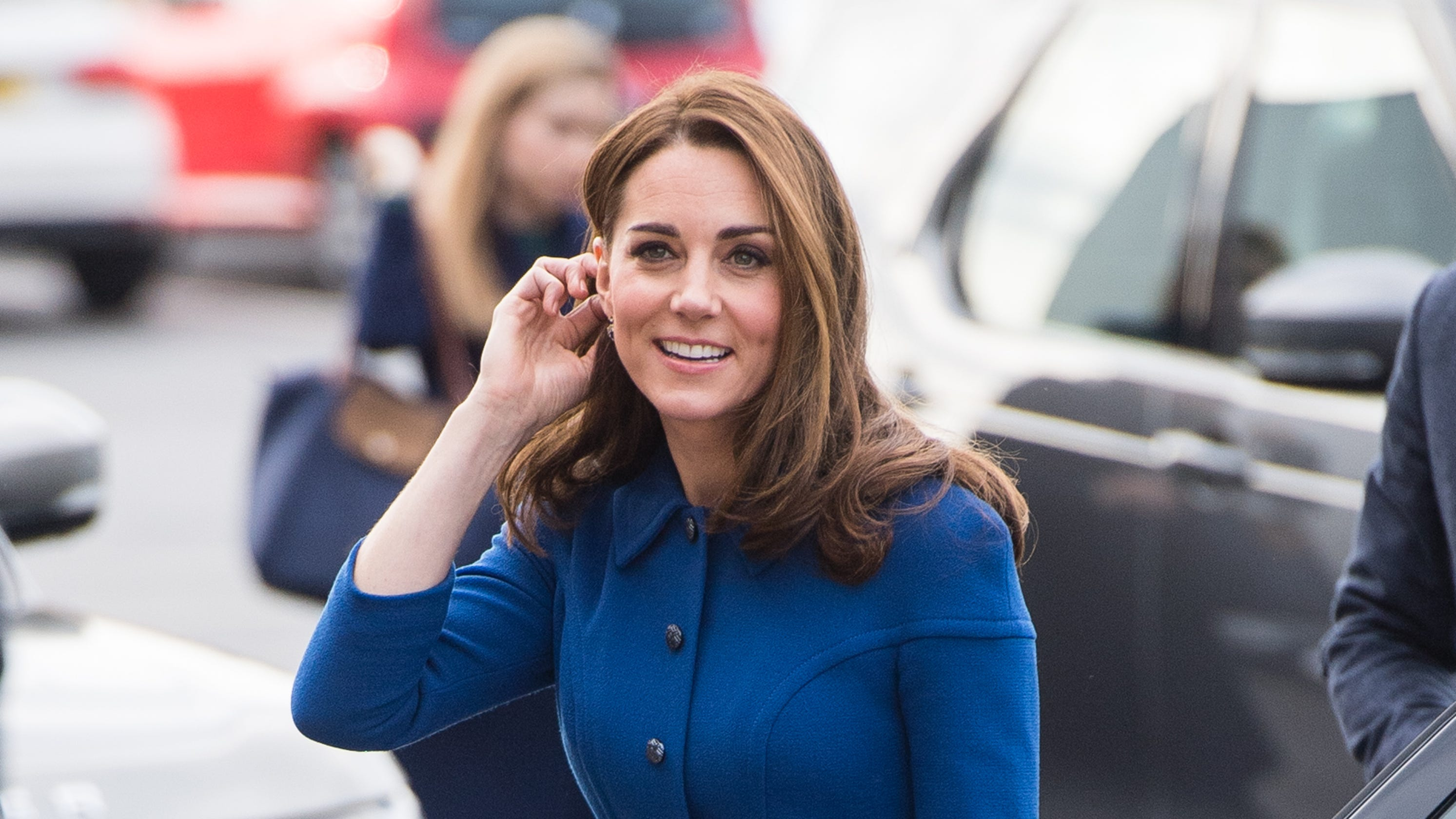 c1689fe3f15a Duchess Kate recycles blue dress on Prince Charles  70th birthday